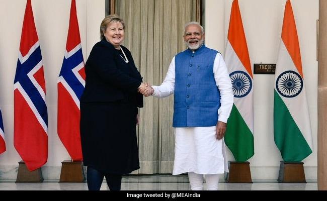 PM Modi Holds Bilateral Talks With Norwegian Prime Minister