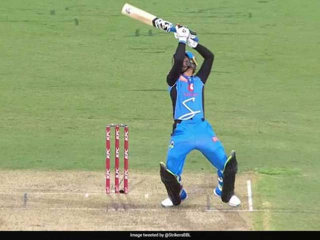 Big Bash League: Rashid Khan Plays MS Dhonis Helicopter Shot Again. Watch