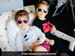 Just Another Cute Pic Of Karan Johar's Twins Roohi And Yash