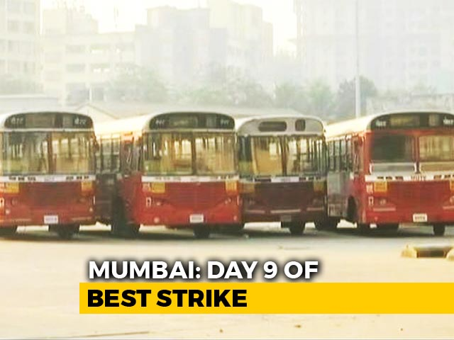 Video : No End To Commuter Woes As Mumbai Bus Strike Enters Ninth Day