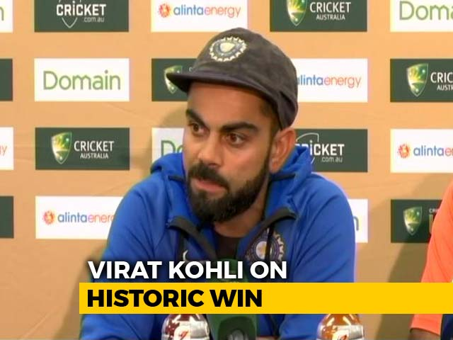 "Video : ""Proudest Moment In Playing Years,"" Says Virat Kohli On Historic Win"