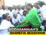 Video : Siddaramaiah Caught On Camera Snatching Mic From Woman In Fit Of Rage