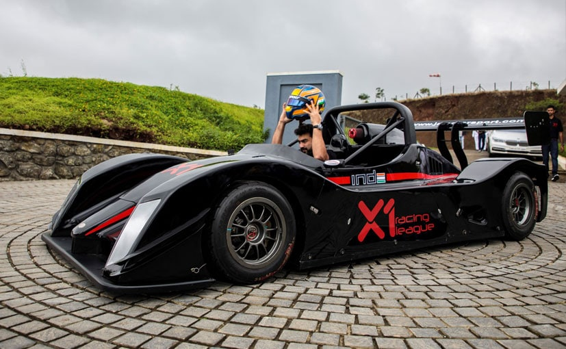Promoter and international racer Armaan Ebrahim was seen testing the two-seater race car.
