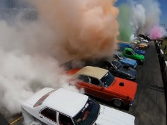 126 Car Burnout Sets New Guinness World Record In Australia