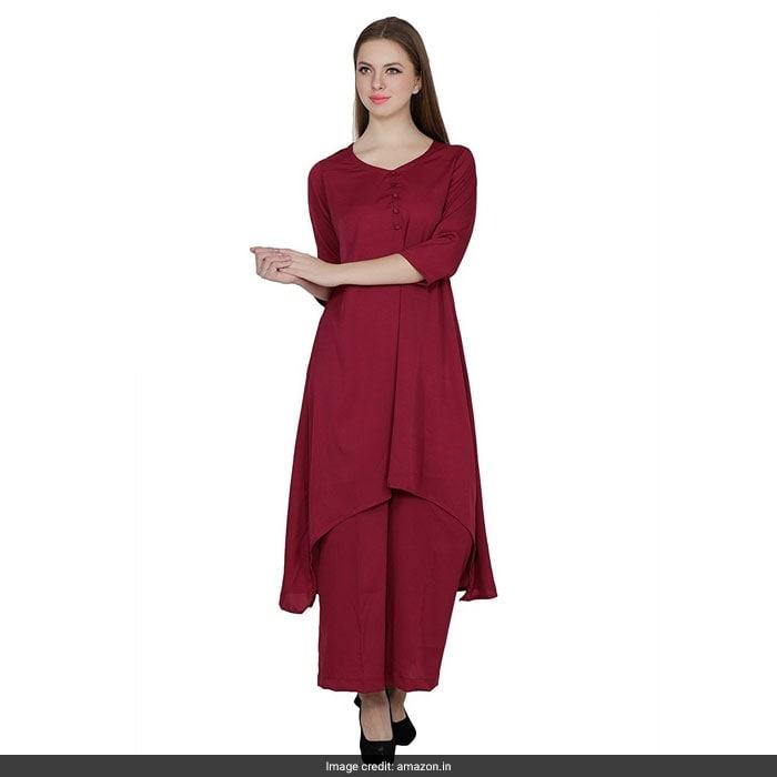 b1d98c3d38b8e Let Juhi Chawla Show You How To Wear Wine Red Like A Boss. 5 Options ...