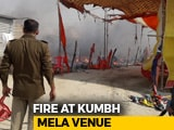 Video : Fire Breaks Out In Camp Day Before Kumbh Mela In UP, No Injuries Reported