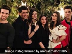 Karan Johar, Manish Malhotra, Aditi Rao Hydari, Nushrat Bharucha Were Diana Penty's Special Guest At The House Party