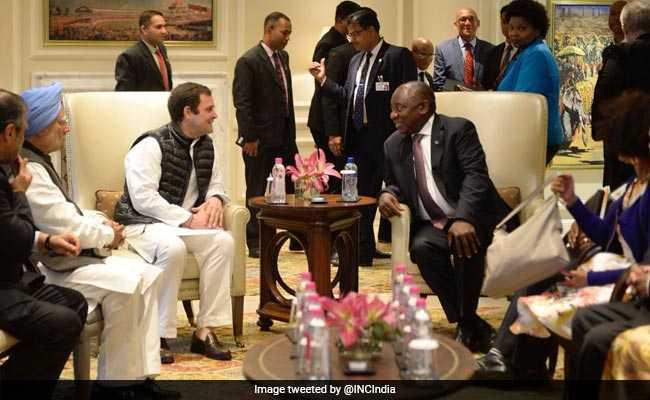 Cyril Ramaphosa Meets Rahul Gandhi, Invites Him To South Africa
