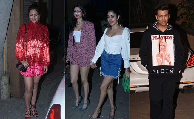 Punit Malhotra's Birthday Party: Janhvi Kapoor, Khushi, Sonakshi Sinha, Karan Johar Lead Celeb Roll Call