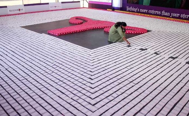 Guinness World Record With Longest Line Of Sanitary Napkins Set In Bengaluru