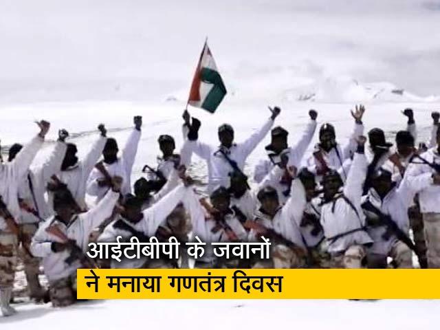 Videos : 18 हजार फीट पर जवानों ने फहराया झंडा