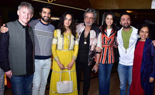 Bombairiya: Shraddha Kapoor, Shivangi Kolhapure And Shakti Kapoor Form Siddhanth's Cheer Squad At Film Screening