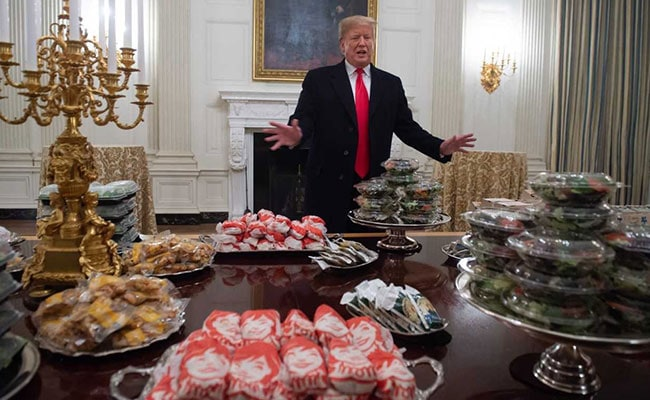 Trump Ordered 300 Hamburgers, French Fries For Football Team 'Because...'