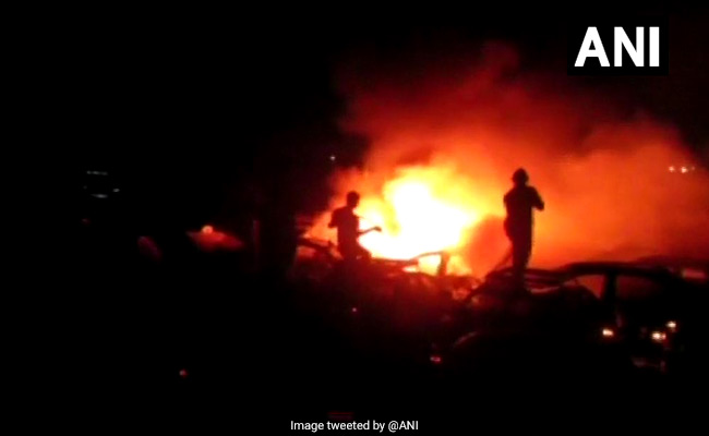 15 Cars Gutted As Fire Breaks Out In Parked Cab Near Mumbai