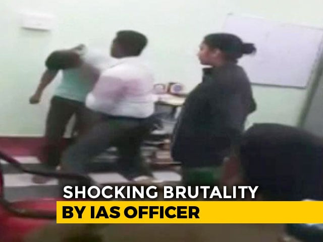 Video : On Video, IAS Officer, Wife Thrash Young Man Inside Bengal Police Station