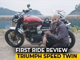 Video : 2019 Triumph Speed Twin First Ride Review