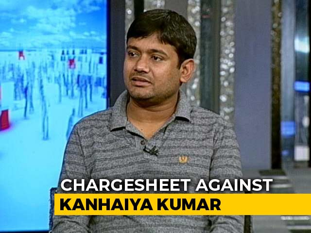 "Video : Kanhaiya Kumar, Charged With Anti-India Slogans At JNU, Thanks ""Modi Ji"""