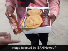 Liquor Bottles In Food Packets At BJP Leader's Temple Event In UP