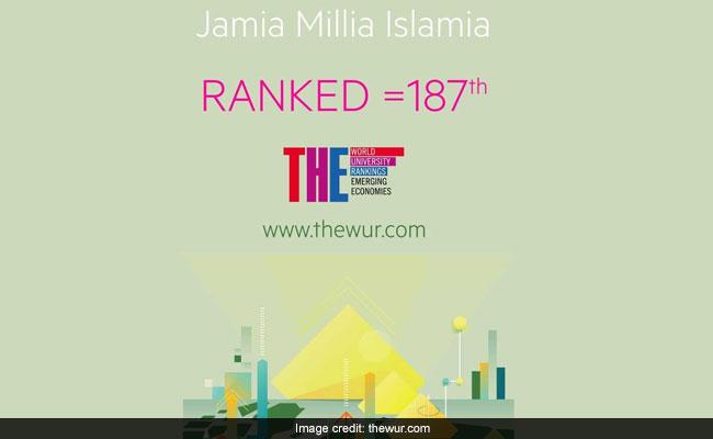वर्ल्ड रैंकिग में जामिया मिलिया इस्लामिया की रैंकिंग हुई बेहतर