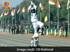 Motorcycle Stunts, Flypast At 70th Republic Day Parade. See Pics