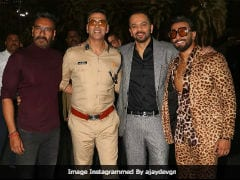 Simmba, Singham And Sooryavanshi 'Unite' For An 'Awesome' Pic With Rohit Shetty