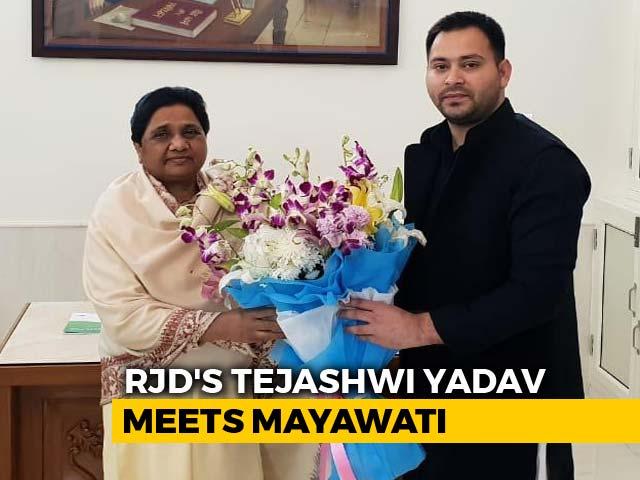 "Video : Tejashwi Yadav Predicts BJP's ""Whitewash"" After Meet With Mayawati"