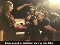 Pic Of Deepika Padukone Blessing Ranveer Singh, Karan Johar, Rohit Shetty Is Making The Internet ROFL