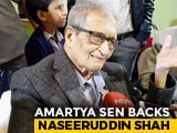 "Video : ""Every Person Has A Right To An Opinion"": Amartya Sen On Naseeruddin Shah's Remarks"