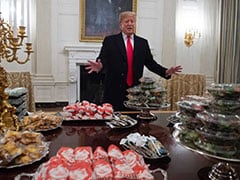 """Trump Ordered 300 Hamburgers, French Fries For Football Team """"Because..."""""""