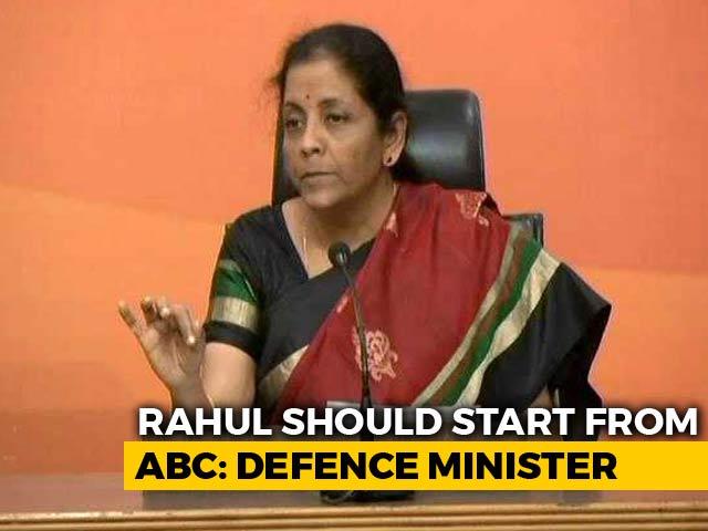 "Video : After Rahul Gandhi's ""Resign"" Demand, Nirmala Sitharaman's Comeback"
