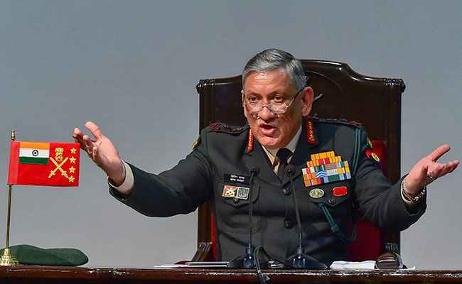 'Remain Prepared For All Eventualities': General Bipin Rawat To Army