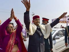 "Kumbh Mela: President, First Lady Participate In ""<i>Gangan Pujan</i>"" At Sangam"