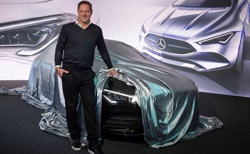 Mercedes-Benz's Chief of Design, Gorden Wagener with the new 2020 Mercedes-Benz CLA