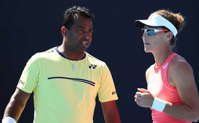 AUSOPEN:Leander Paes and Sam Stosur win, Rohan Bopanna ousted