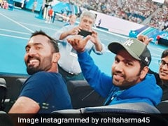 Rohit Sharma, Dinesh Karthik Watch Rafael Nadal Play At Australian Open
