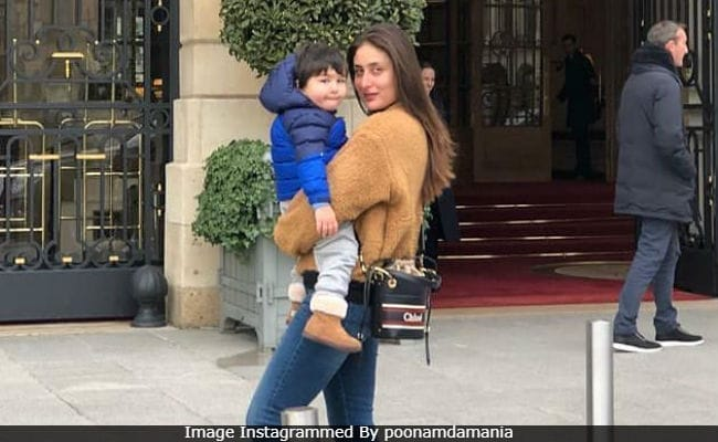 Kareena Kapoor And Taimur Send Love From Paris. See Pic