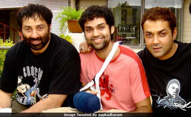 Brothers Sunny, Bobby And Abhay Deol In Epic Throwback Shared By Dharmendra