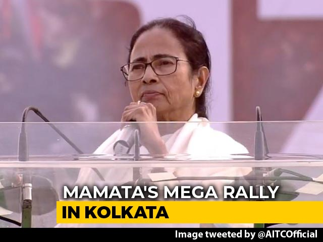 "Video : ""Modi Government's Expiry Date Over"": Mamata Banerjee At Opposition Rally"