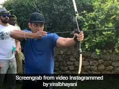 सलमान खान की तीरंदाजी देख हैरान रह जाएंगे आप, निशाने पर लगा सटीक... देखें Video