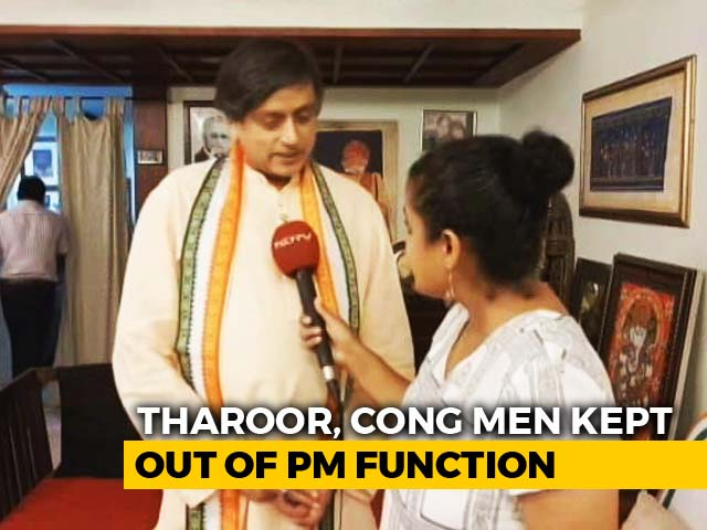 "Video : ""Cut From List"": Shashi Tharoor Says Not Allowed Into Temple With PM Modi"