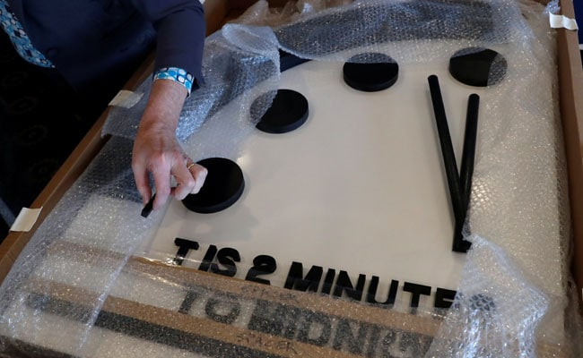 Doomsday Clock Is Stuck At 2 Minutes To 'Midnight,' Symbolic Hour Of Apocalypse