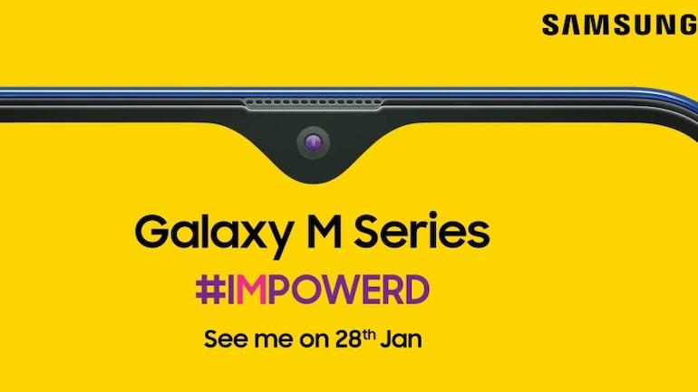 Samsung Galaxy M सीरीज़ का टीज़र अमेज़न इंडिया पर ज़ारी, इनफिनिटी वी डिस्प्ले होने की पुष्टि