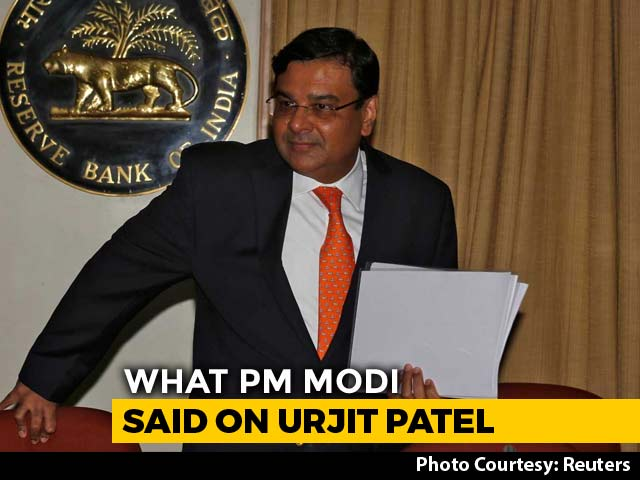 "Video : ""I'm Revealing For The First Time..."": What PM Modi Said On Urjit Patel"