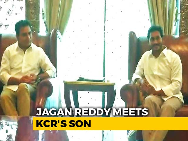 "Video : Jagan Reddy Meets KCR's Son, Says ""Great Friends"" Of Andhra Pradesh"