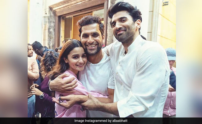 Alia Bhatt Wraps Shooting For Kalank, Shares Pic With Aditya Roy Kapur And Director Abhishek Varman