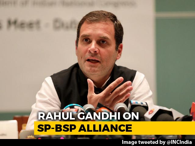 "Video : ""Respect Akhilesh Yadav, Mayawati,"" Says Rahul Gandhi On UP Alliance"
