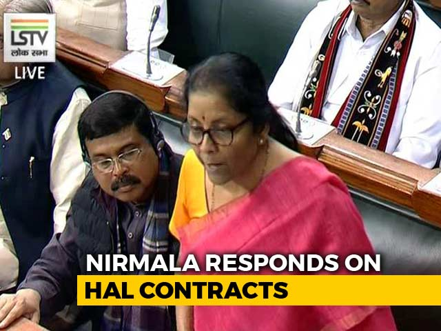Video : Doubts Raised On HAL Contracts Misleading: Defence Minister In Parliament