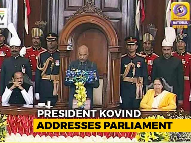 "Video : ""Government Working For A 'New India',"" President Tells Parliament"