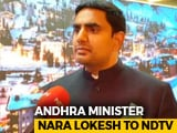 "Video : ""Look Forward To KCR Coming In To Andhra And Campaigning,"" Says N Chandrababu Naidu's Son"
