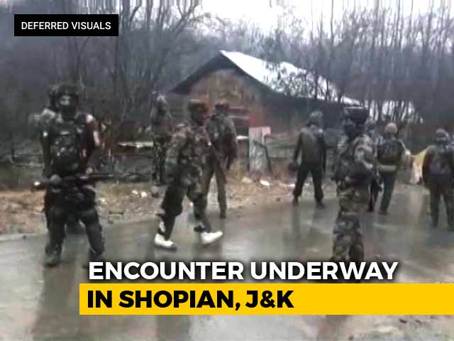 Video : Encounter Underway In Shopian, Gun Battle Between Forces And Terrorists